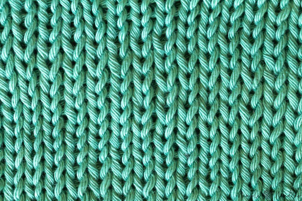 double stockinette stitch pattern