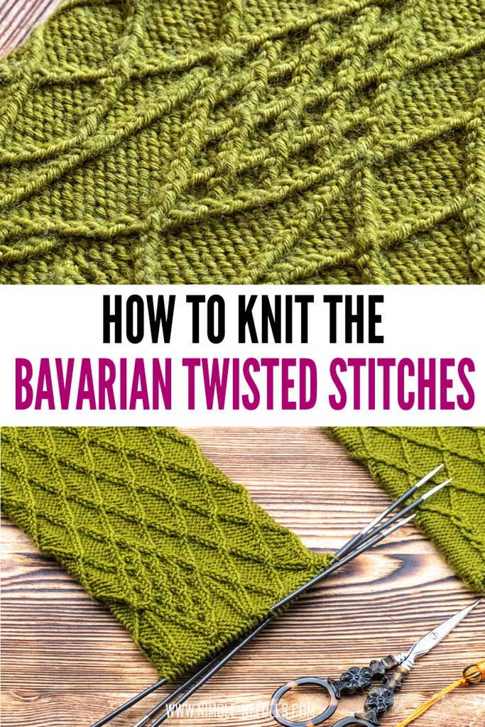 how to knit bavarian twisted stitches
