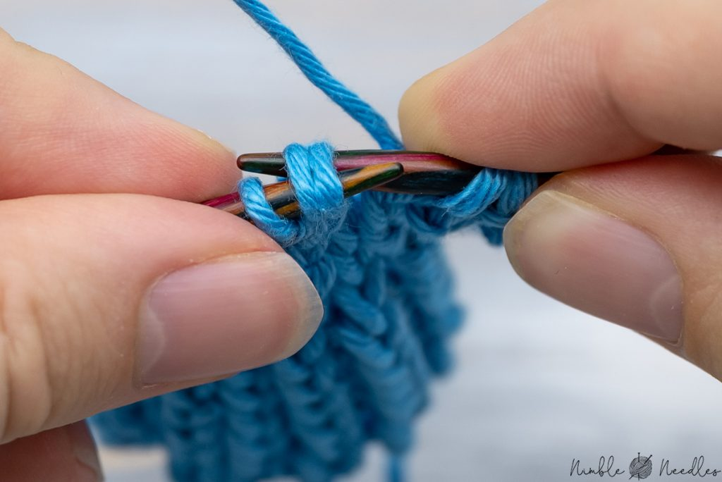 knitting the two stitches together through the back loop