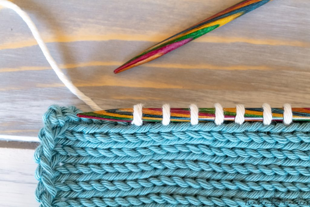 picking up stitches from the edge of knitting