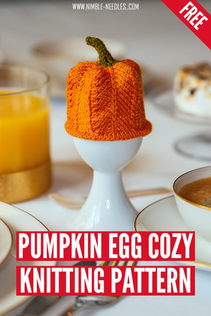 pumpkin egg cozy knitting pattern3