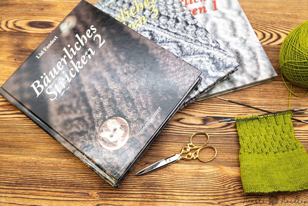 bäuerliches stricken by lisl fanderl - a knitting book series with traditional bavarian sock designs