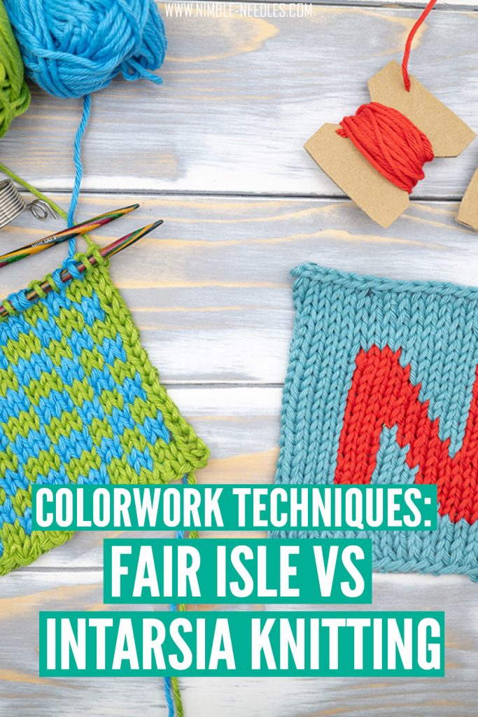 Explaining the difference between fair isle and intarsia knitting