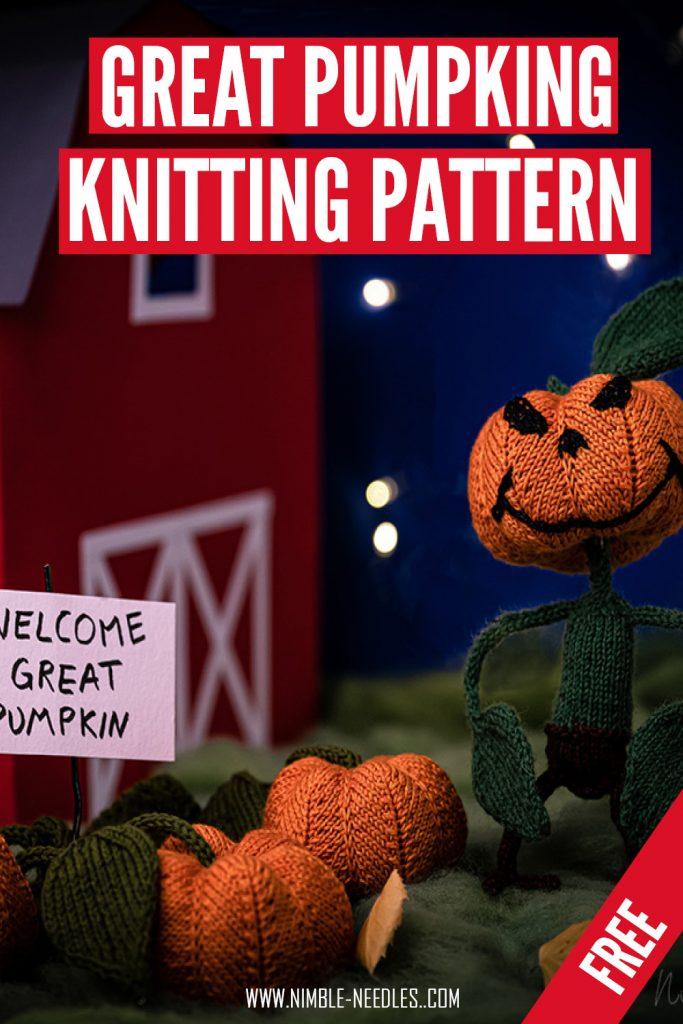 great pumpkin knitting pattern with detailed written instructions