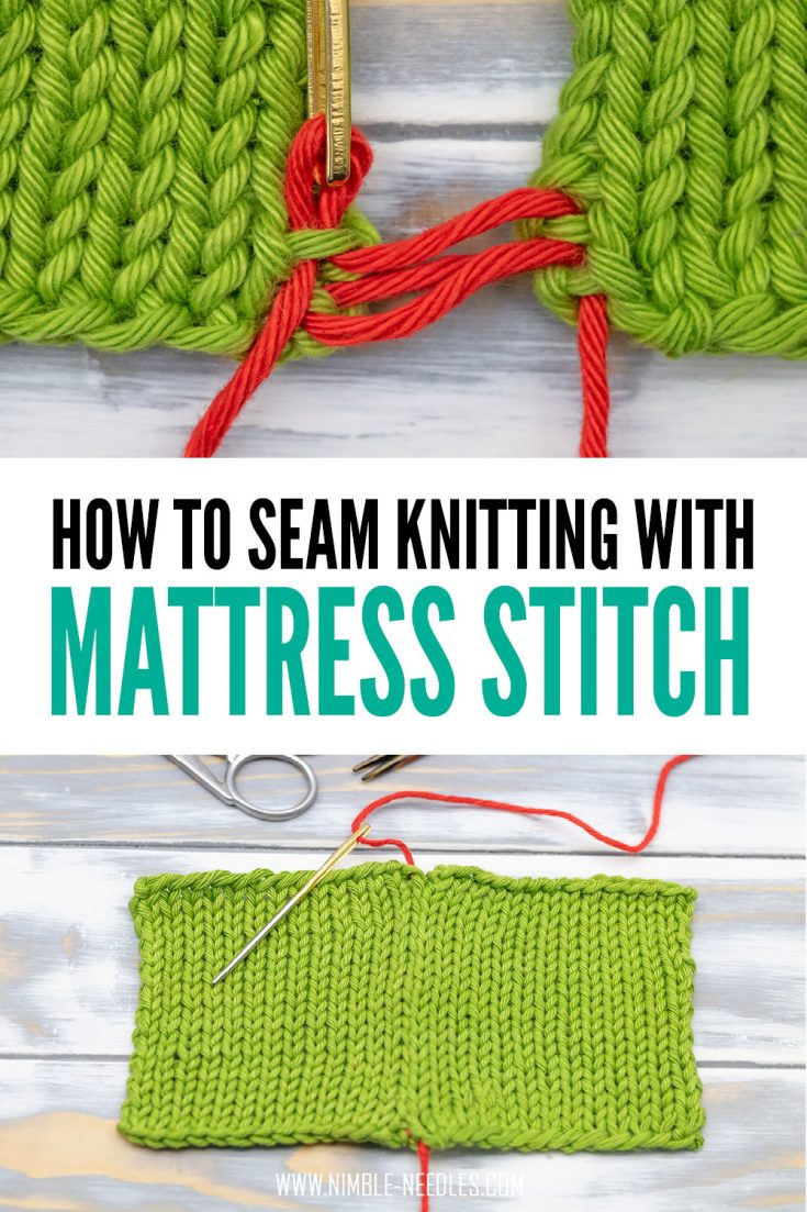 How To Do The Mattress Stitch In Knitting Step By Step Tutorial Video