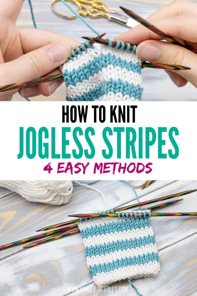 How to knit jogless stripes in the round - 4 easy methods