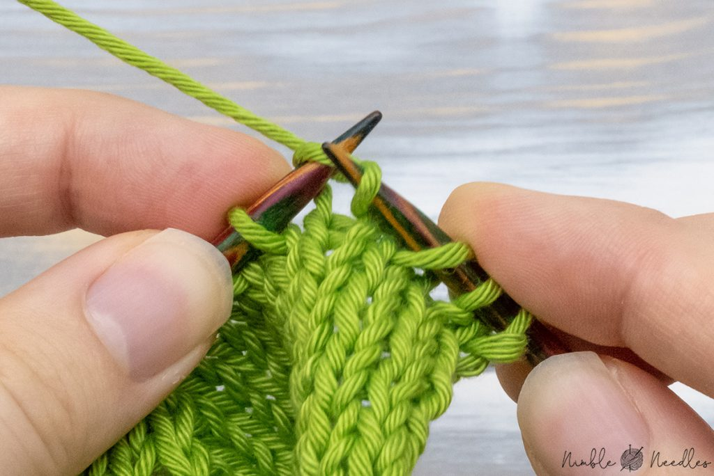 knitting one stitch after you slipped one