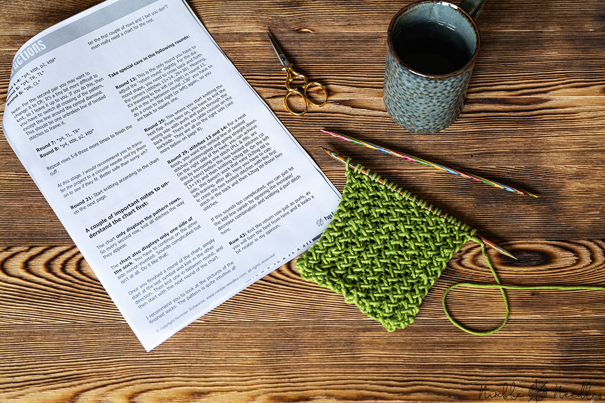 Reading a knitting chart