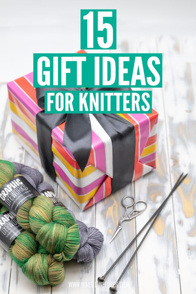 15 gift ideas for knitters - a huge list of unique and inexpensive presents