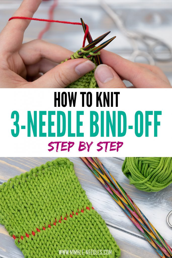 how to knit a three-needle bind off - easy tutorial for beginners