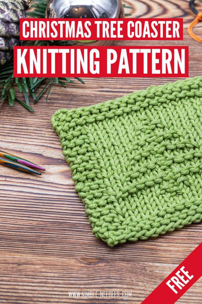 A free christmas coaster knitting pattern