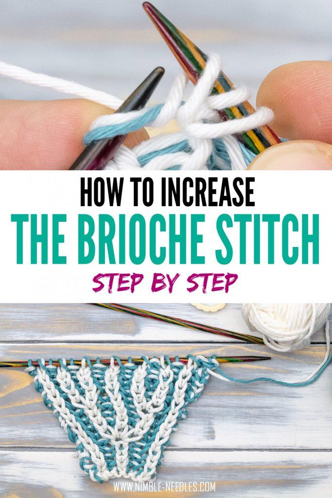 how to knit the brioche stitch increase3