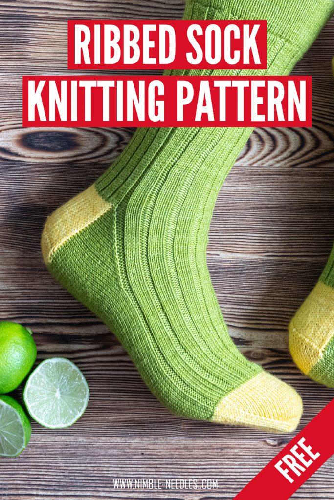 a free ribbing sock knitting pattern3