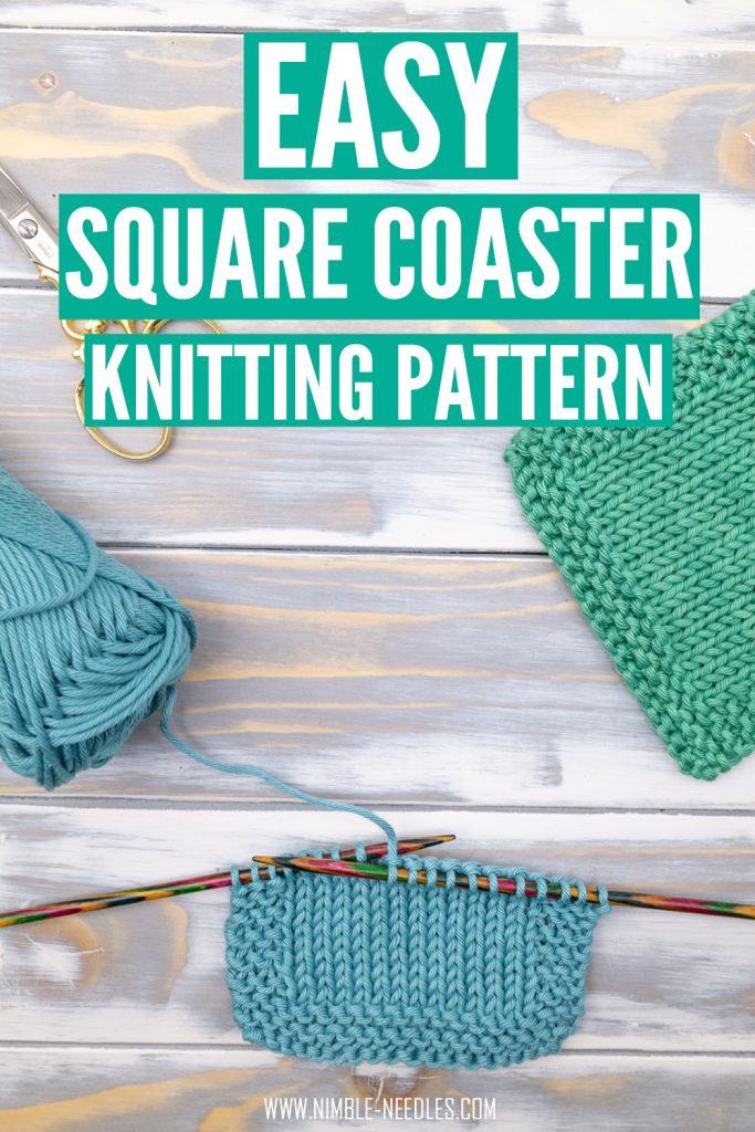 easy coaster knitting pattern
