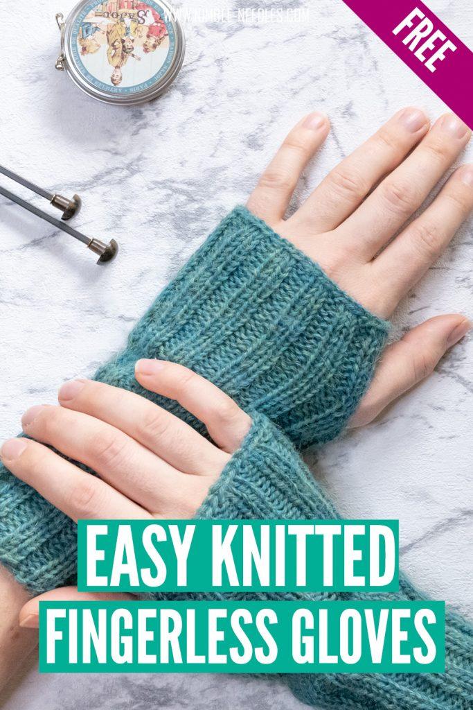easy fingerless gloves for beginners knit flat
