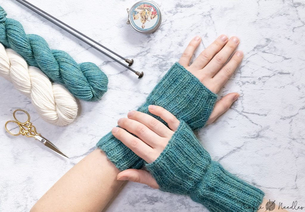 easy fingerless gloves knitting pattern for beginners knit flat