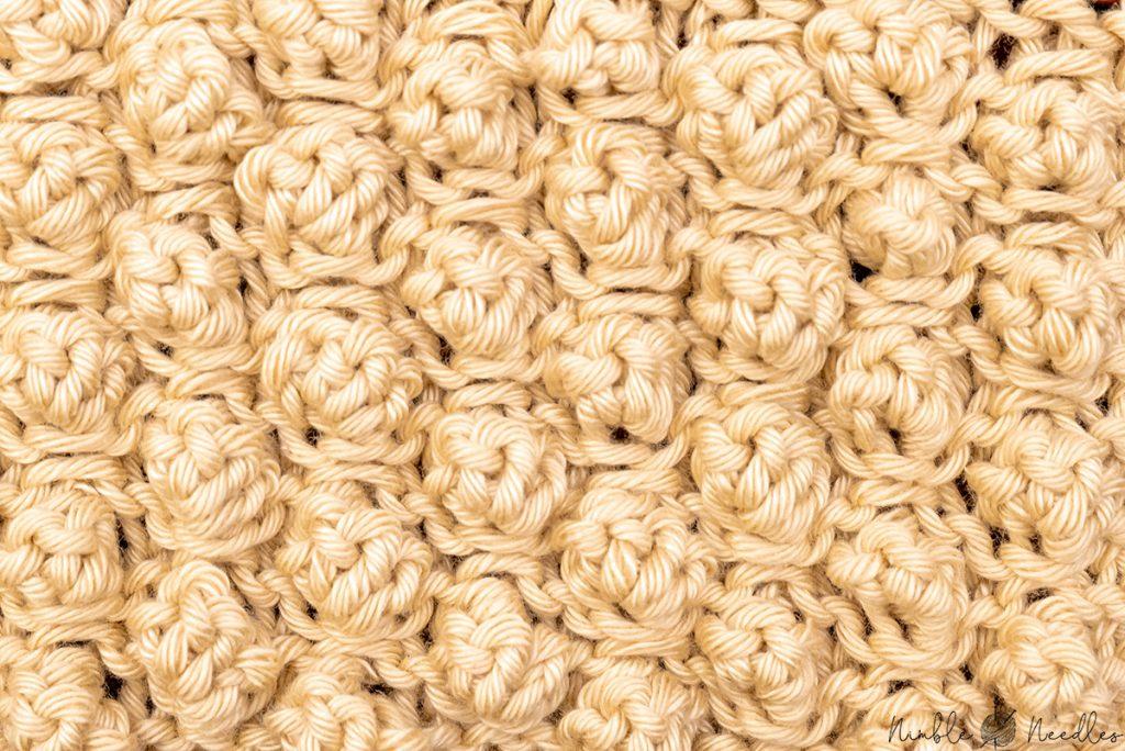 The garter stitch bobble stitch knitting pattern