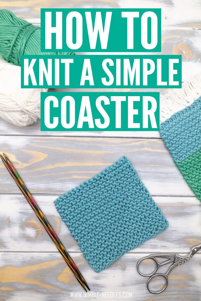how to knit a coaster for beginners step by step