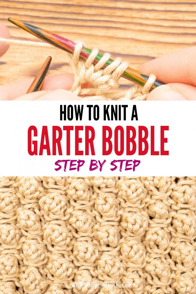 how to knit a garter bobble knitting pattern