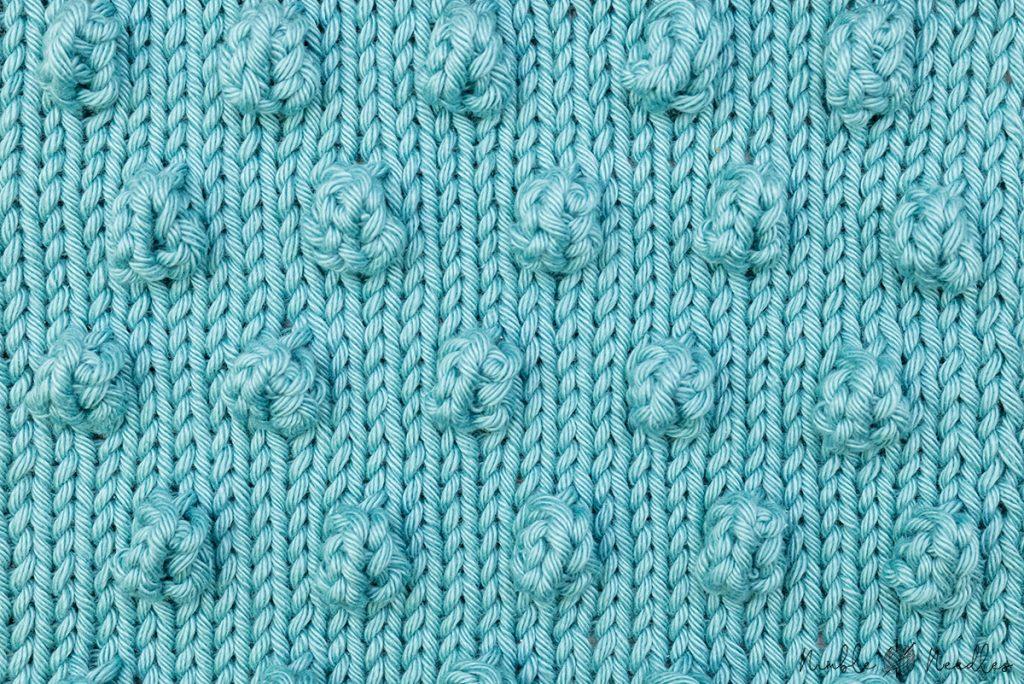 the bobble stitch knitting pattern