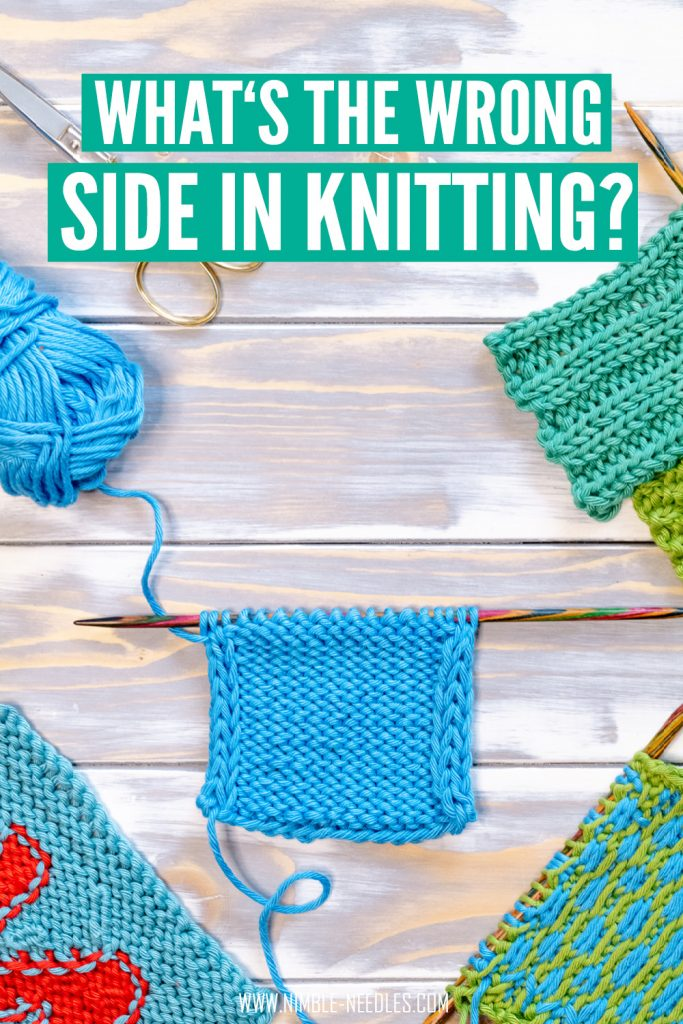 how to tell the wrong side in knitting