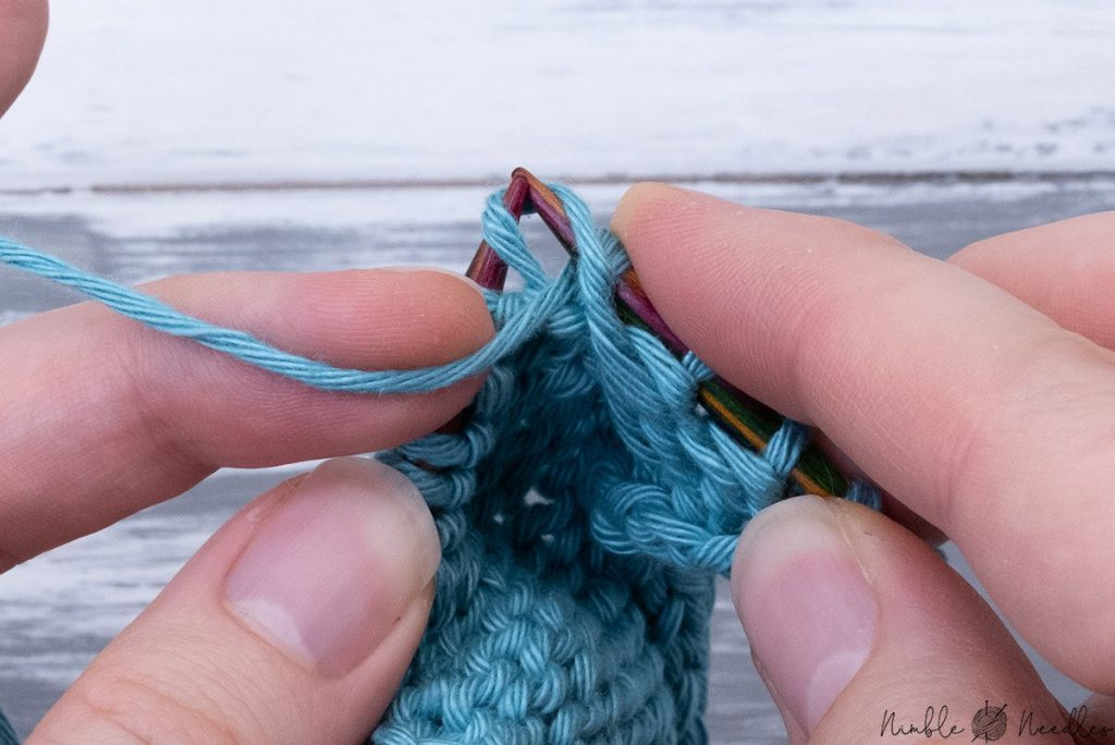 alternative way to knit pfb by twisting the loop and simply slipping it on the right needle