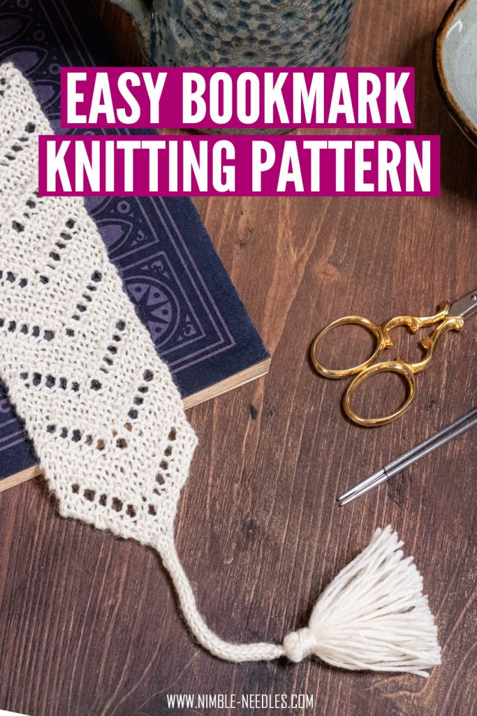 easy bookmark knitting pattern