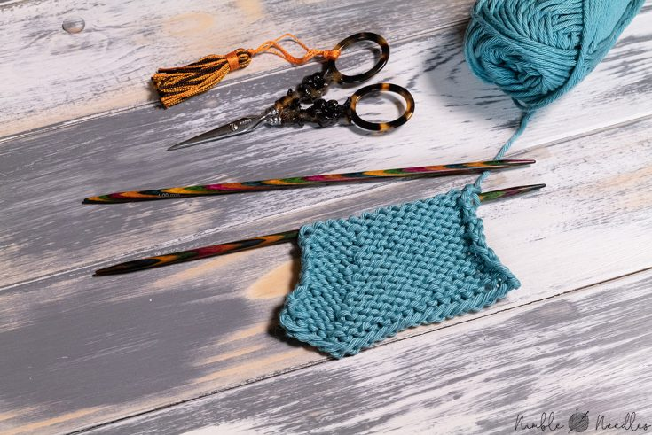 Instructions for the ssp knitting stitch