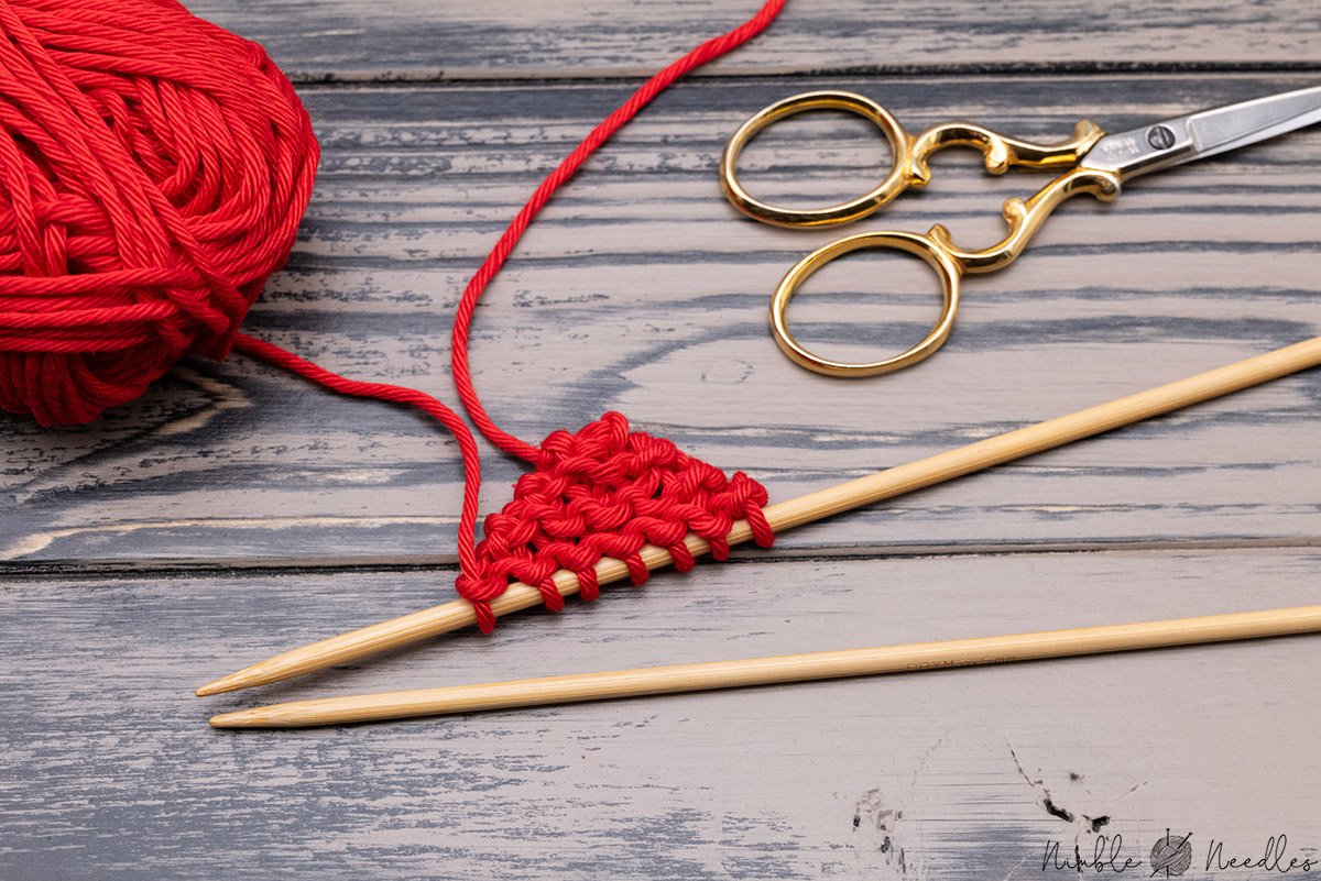 starting by knitting the left lobe of the heart