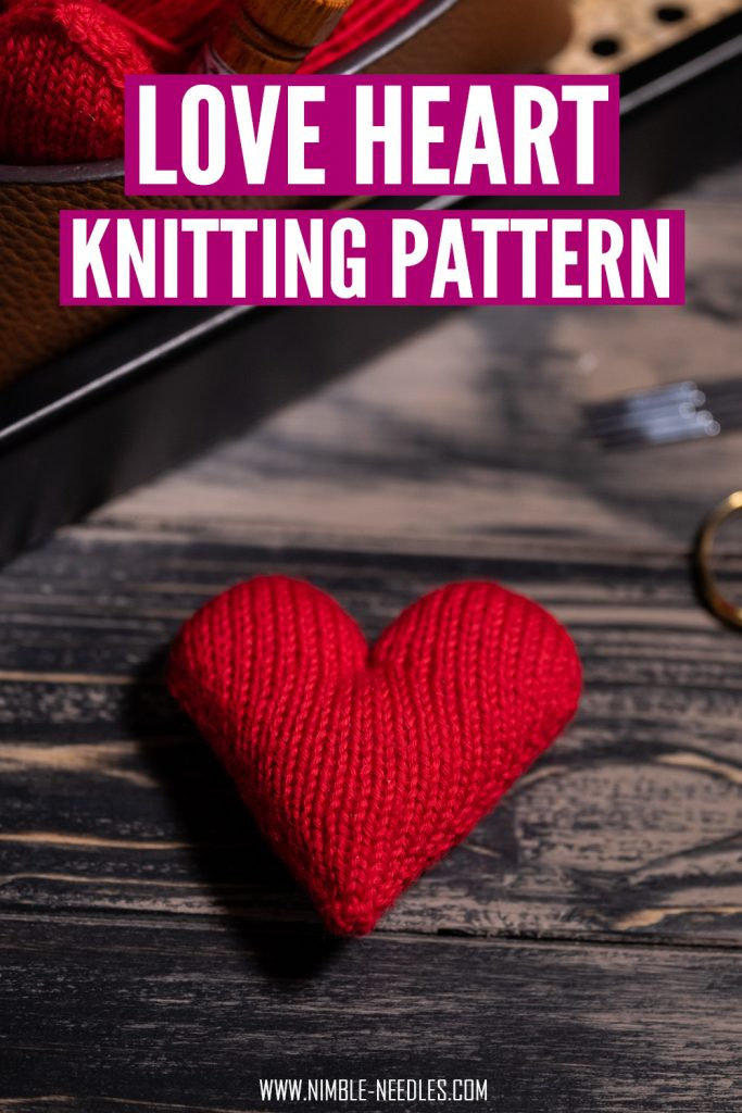 the perfect red love heart knitting pattern