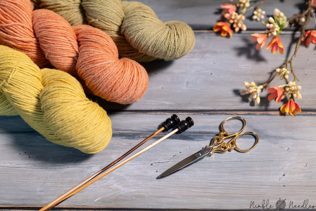 naturally dyed knitting yarn for socks - close-up shot