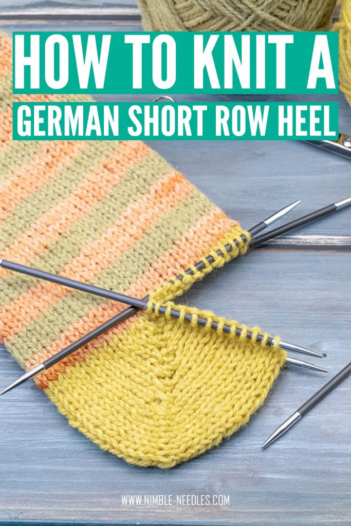 how to knit a german short row sock heel for beginners