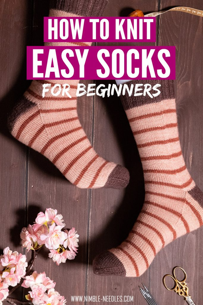 how to knit socks for beginners - step by step tutorial