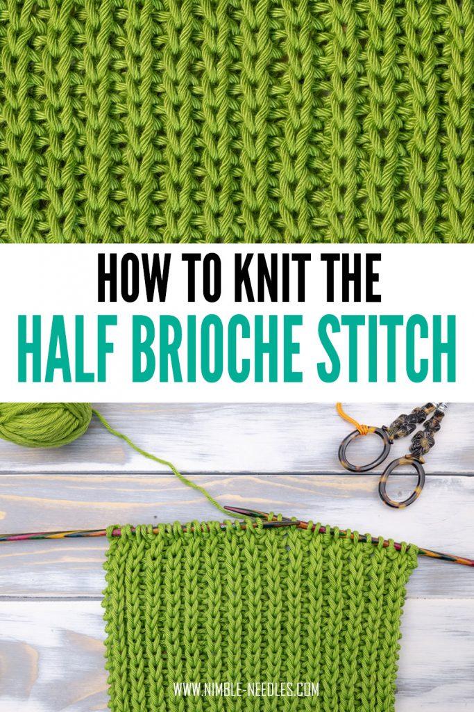 how to knit the half brioche stitch - step by step tutorial