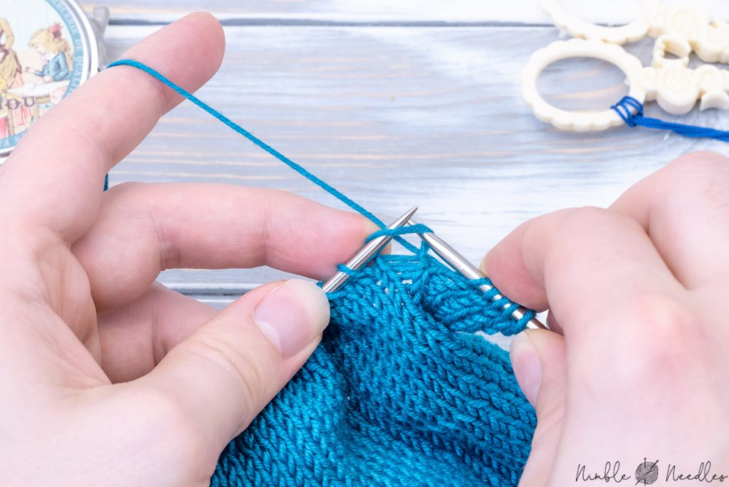 knitting with a much looser gauge to increase the knitting speed