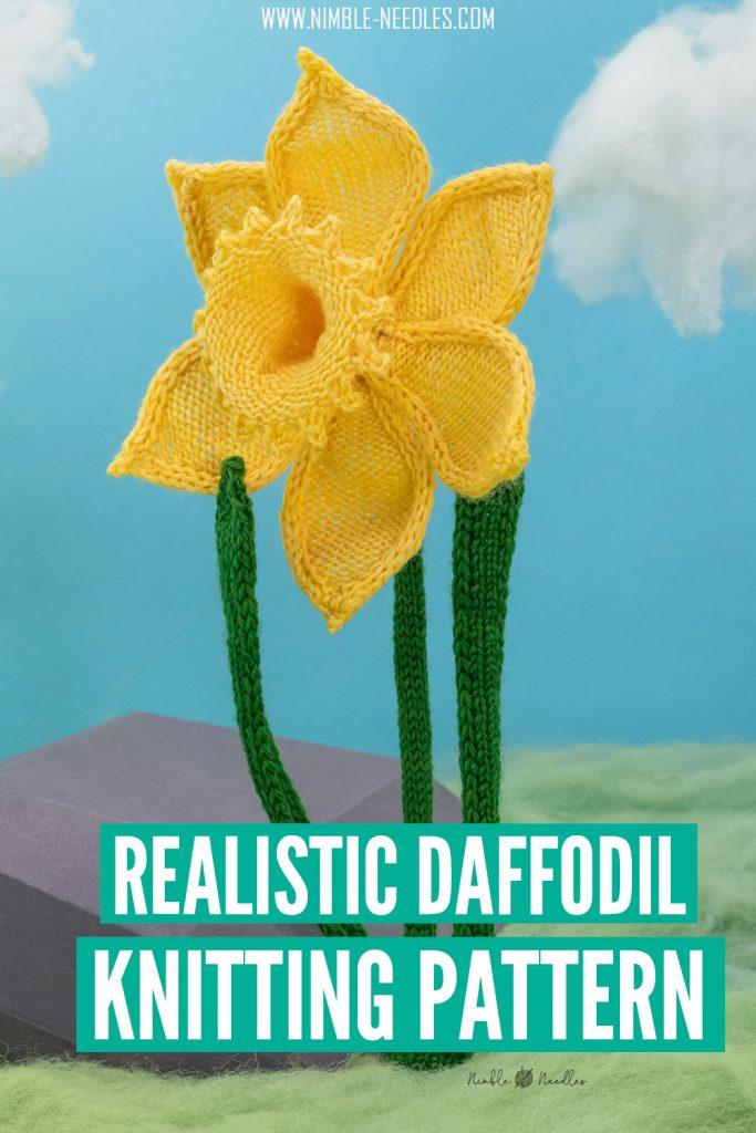a realistic daffodil knitting pattern