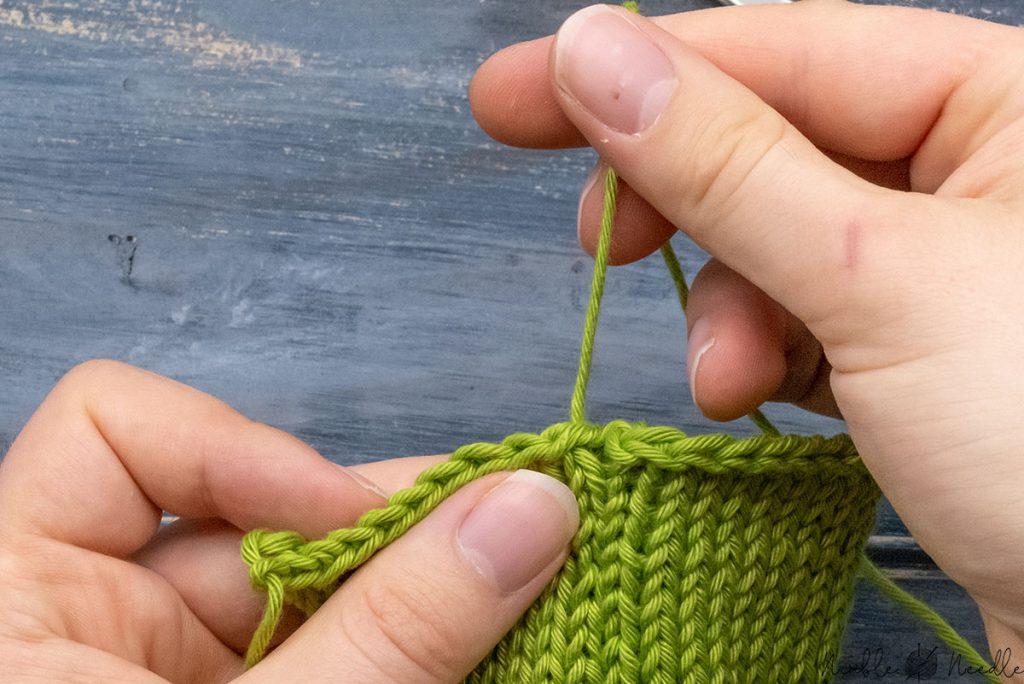 a gap after you seamed with a mattress stitch