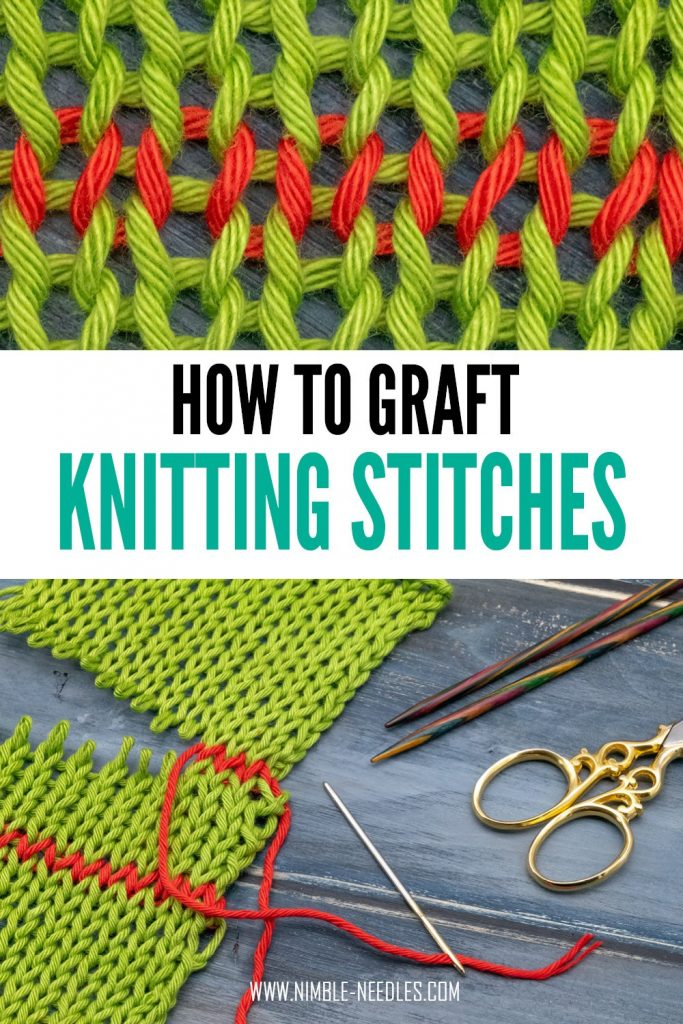 how to graft knitting stitches - step by step tutorial for beginners
