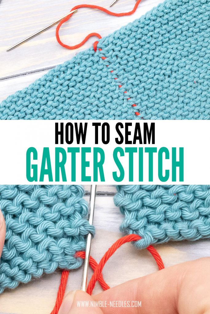 A step by step tutorial on how to seam garter stitch using the mattress stitch technique. It creates an almost invisible seam that lays flat, plus it's super easy to sew - even for beginners.