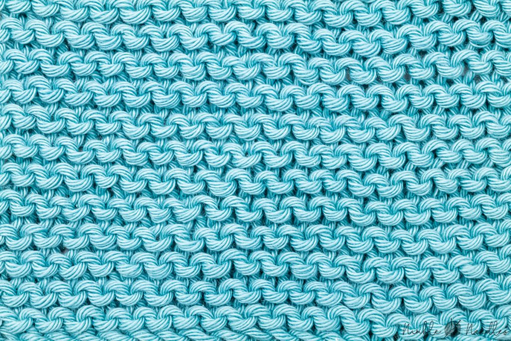 the reverse garter stitch knitting pattern on the right side