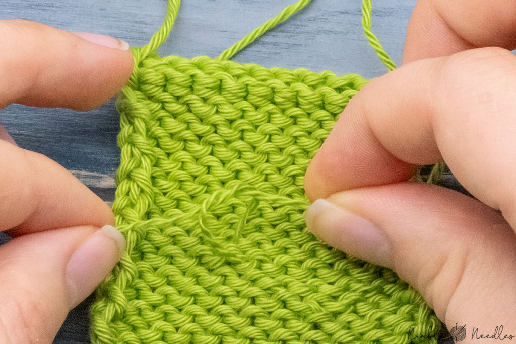 tying another knot after splitting the yarn one more time