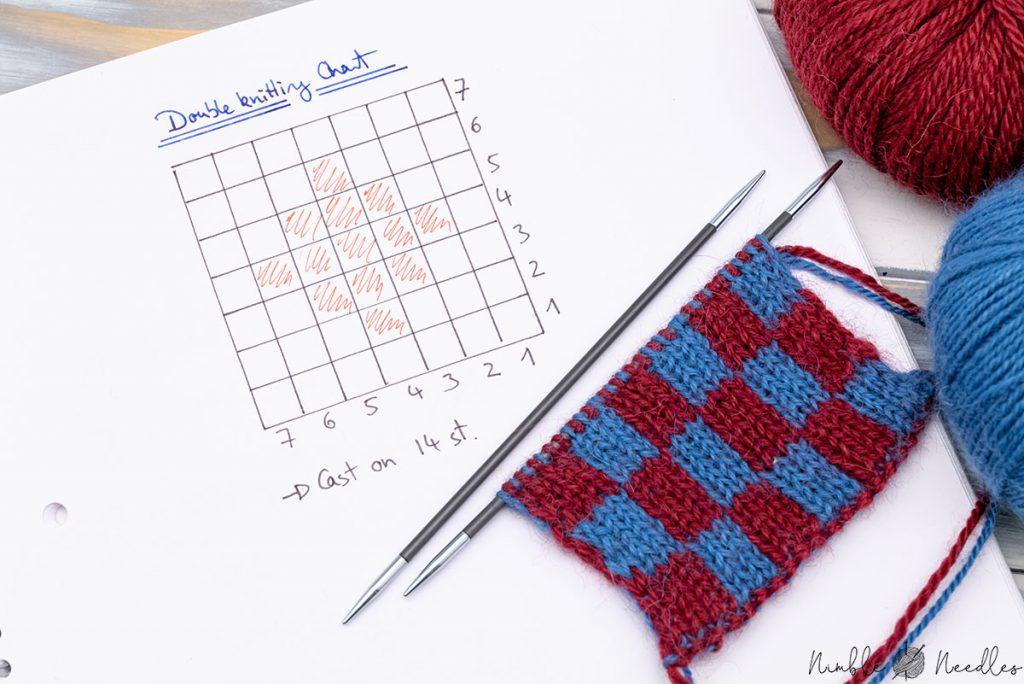 a double knitting chart