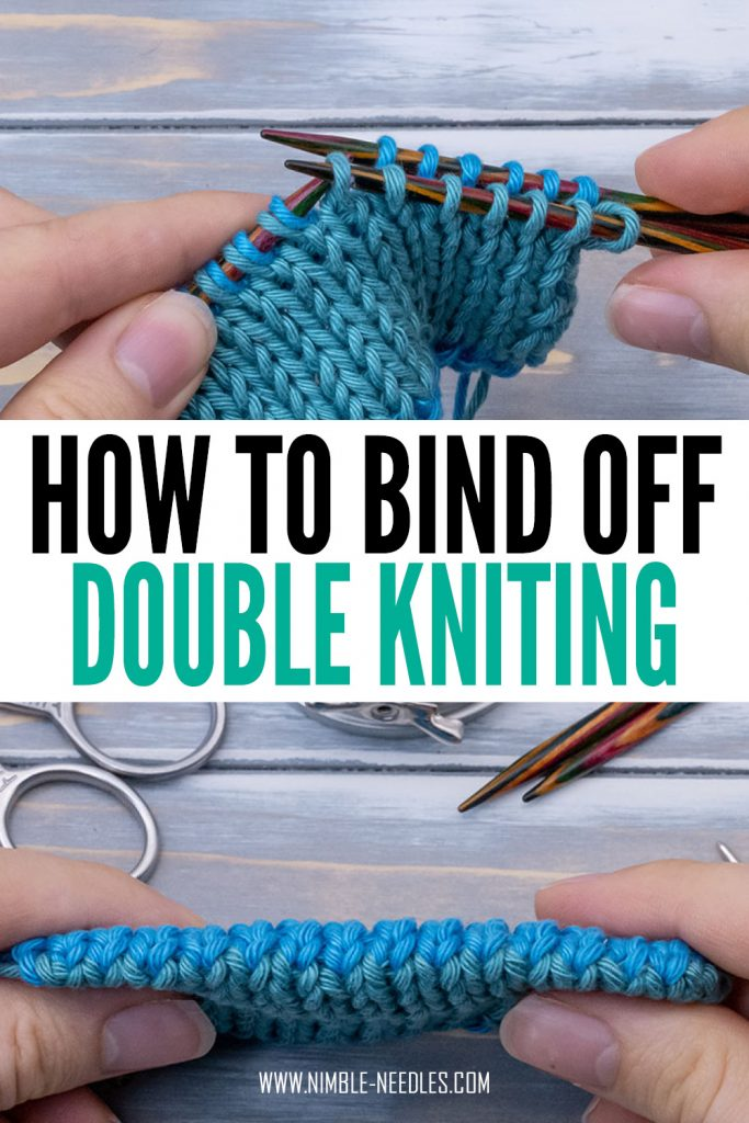 Invisible bind off for double knitting - step by step tutorial for beginners.