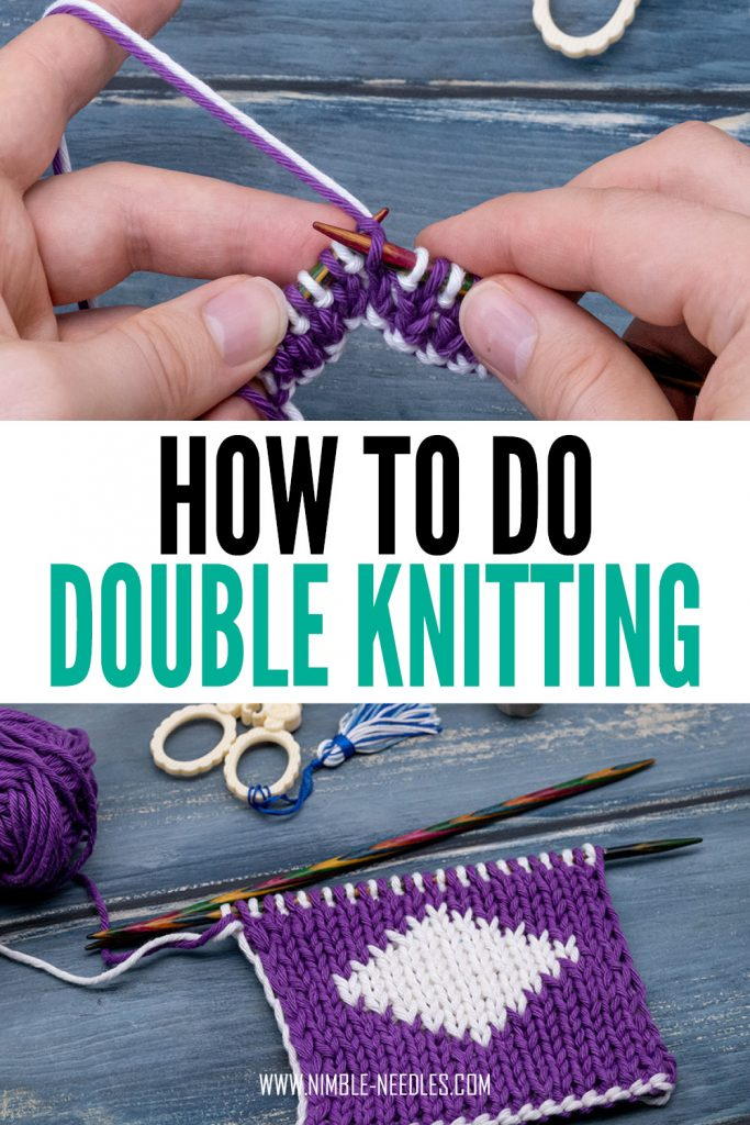 how to double knit for beginners - a step by step tutorial with big pictures and a video