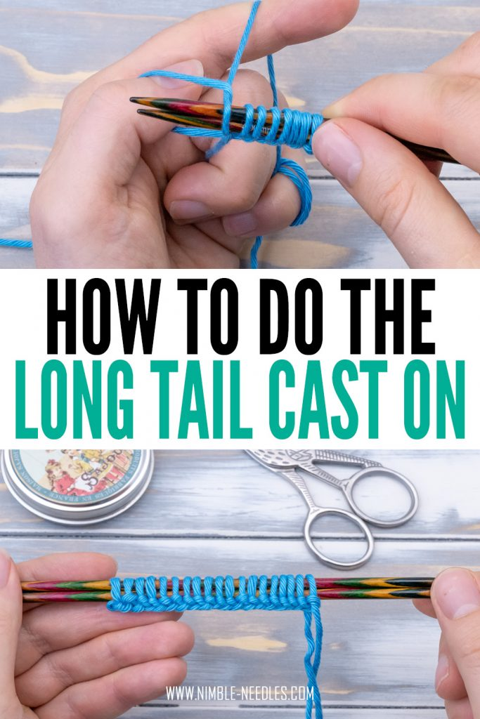 How to long tail cast on method for beginners