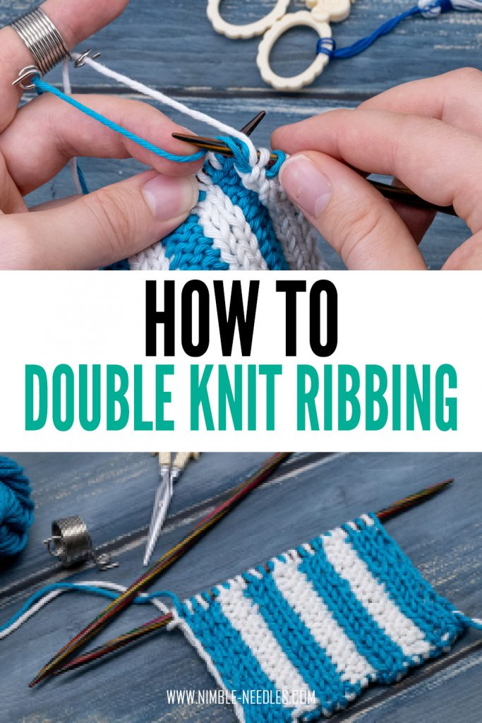 How to double knit ribbing step by step