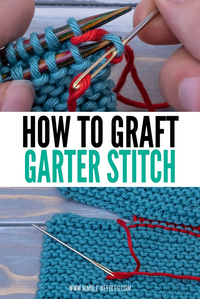 grafting garter stitch- step by step tutorial for beginners