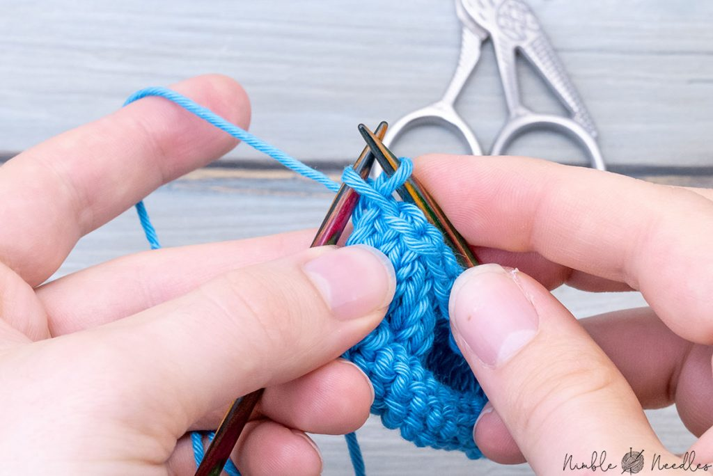 binding off the last stitch the regular way