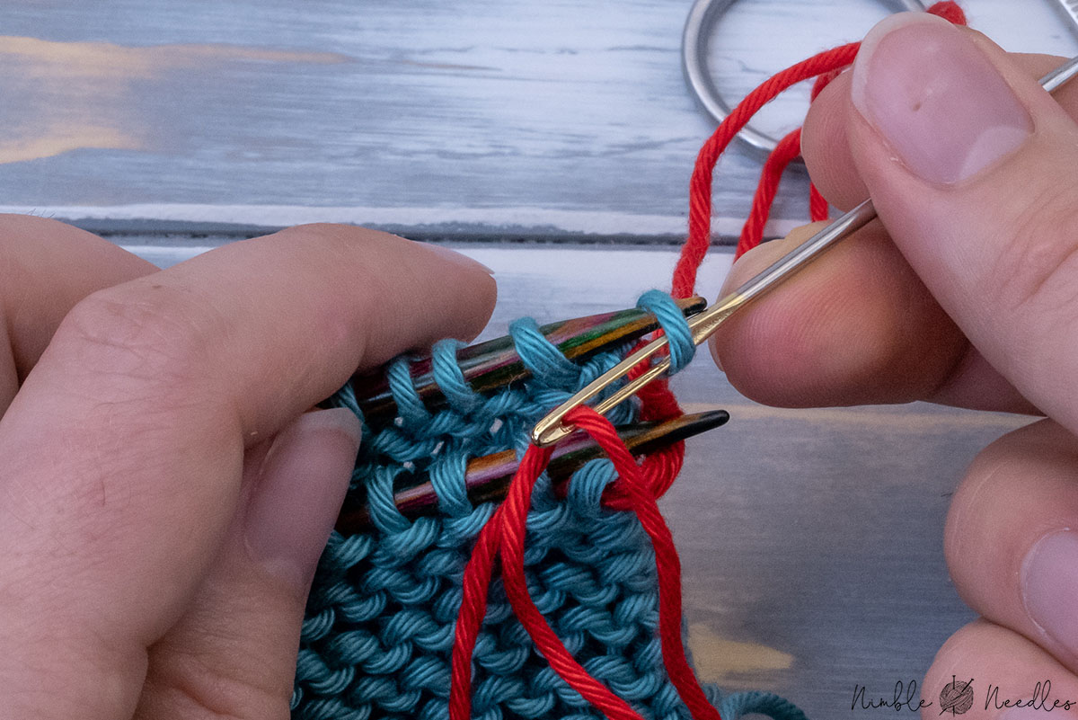 dropping the stitch on the backneedle knitwise