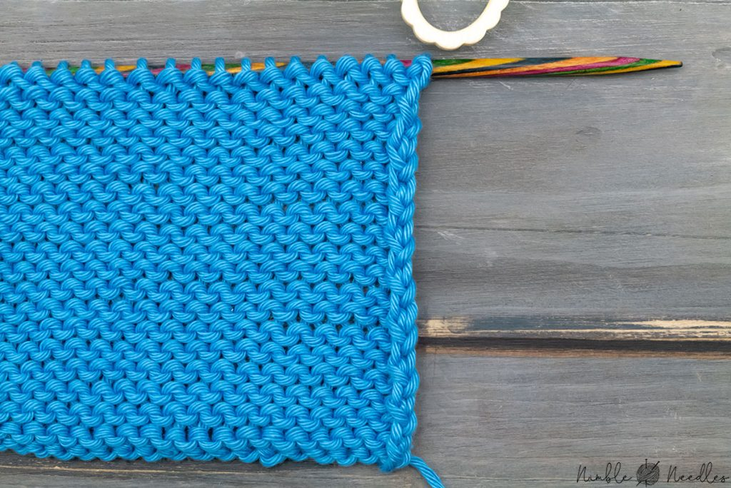 the standard edge you create when knitting stockinette stitch